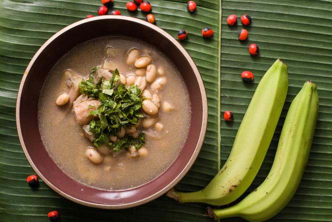Shurumbo, soupe a la banane amazonienne